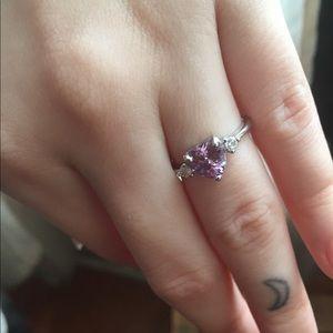 Sterling silver Purple Heart ring